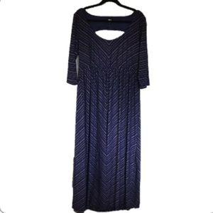 TORRID Purple Silver Stripe Open Back Maxi Dress